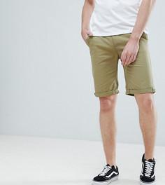 Узкие шорты чиносы цвета хаки Bellfield TALL - Зеленый