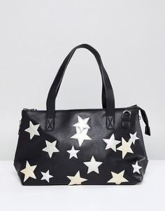 Черная сумка со звездами Yoki Fashion - Черный