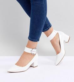 Туфли для широкой стопы на среднем каблуке ASOS DESIGN Samber - Белый