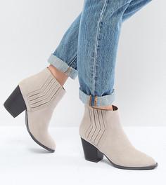 Ботинки челси в стиле вестерн на среднем каблуке QUPID - Бежевый