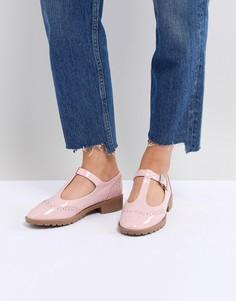 Туфли на плоской подошве ASOS DESIGN Maxime - Розовый