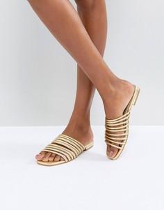 Золотистые кожаные сандалии Vagabond Becky - Золотой