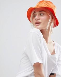 Атласная панама ASOS DESIGN - Оранжевый