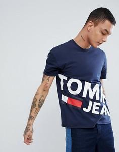 Темно-синяя футболка Tommy Jeans - Темно-синий