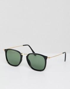 Черные квадратные солнцезащитные очки ASOS DESIGN - Черный