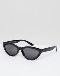 Черные солнцезащитные очки кошачий глаз с овальными стеклами Weekday - Черный