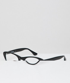 Очки с прозрачными стеклами в черной оправе кошачий глаз AJ Morgan - Черный