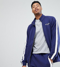 Синяя спортивная куртка с полосками Sixth June TALL - Синий