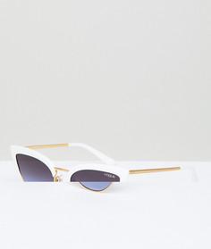 Белые солнцезащитные очки кошачий глаз Vogue Eyewear - Белый