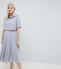 Приталенное платье миди ASOS DESIGN Curve - Мульти