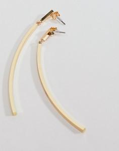 Серьги-подвески Nylon - Золотой