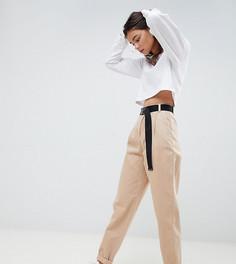 Суженные книзу джинсы с моделирующими швами и ремнем ASOS DESIGN Tall - Коричневый