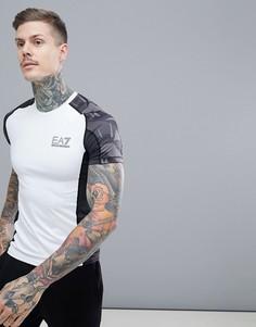 Белая компрессионная футболка EA7 - Белый