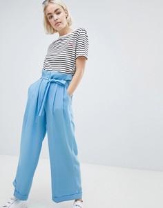 Креповые брюки Mads Norgaard - Синий