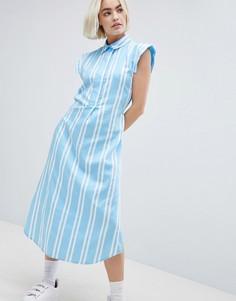 Платье-рубашка в полоску Mads Norgaard - Мульти