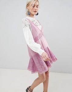Платье-трапеция Free People Any Party - Розовый