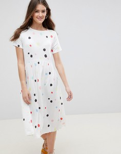 Свободное платье в горошек ASOS DESIGN - Мульти