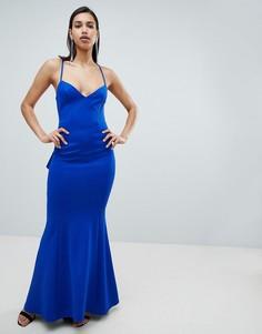 Платье макси City Goddess - Синий