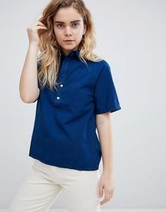 Рубашка с короткими рукавами реглан Bethnals Alex - Синий