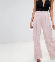Плиссированные широкие брюки Missguided - Бежевый