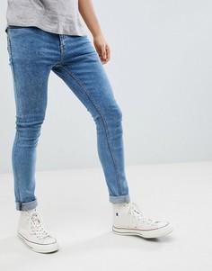 Светлые зауженные джинсы New Look - Синий