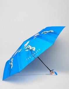 Зонт с цветочным принтом Ted Baker - Синий