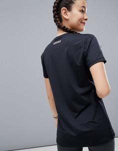 Удлиненная свободная спортивная футболка ASOS 4505 - Черный