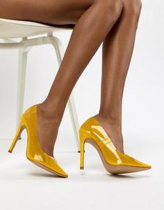 Желтые прозрачные туфли-лодочки Public Desire Extra - Желтый