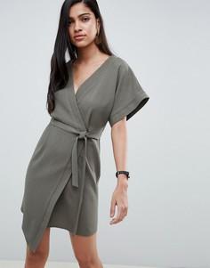 Платье мини с запахом ASOS DESIGN - Зеленый