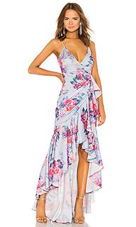 Вечернее платье с запахом ateinne - Michael Costello