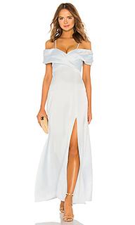 Вечернее платье с перекрестными шлейками спереди shirred cross front - LPA