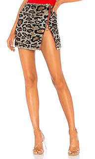 Мини юбка с блестками kat - h:ours