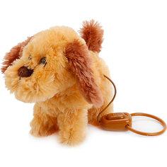 Интерактивный щенок с 4-мя функц., пульт-поводок, ходит, с музыкой. Играем вместе