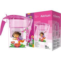 Фильтр-кувшин для очистки воды «Детский» 2,8 л. «Даша путешественница», Little Angel, розовый