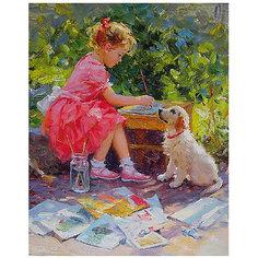 """Картина по номерам """"К. Разумов: Маленькая художница"""", 40*50 см Molly"""