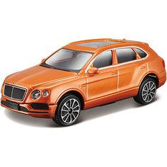 """Коллекционная машинка Bburago """"Bentley Bentayga Range"""" 1:43, оранжевая"""