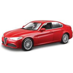 """Коллекционная машинка Bburago """"Alfa Romeo Giulia"""" 1:43, красная"""