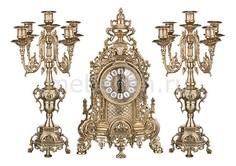 Набор из часов и 2 подсвечников Art 333-097 АРТИ М