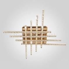 Накладной светильник 90041/8 золото Eurosvet
