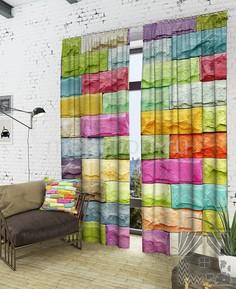Портьера (150х260 см) 2шт. Красочная стена ТомДом