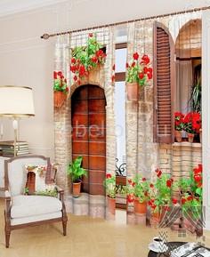 Портьера (150х260 см) 2шт. Итальянский дворик ТомДом