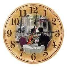 Настенные часы (30 см) Парижское кафе AC11 Акита