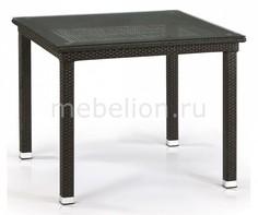 Стол обеденный T257A-W53-90x90 Brown Afina