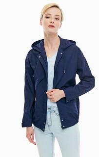Синяя куртка с капюшоном Lacoste