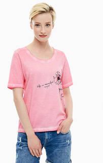 Розовая футболка из хлопка Blue Seven