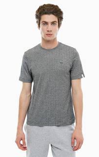 Серая хлопковая футболка Lacoste