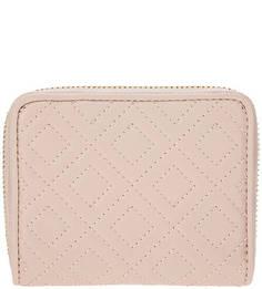 Розовый кожаный кошелек на молнии Tory Burch