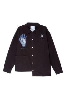 Черная рубашка с принтом C2 H4