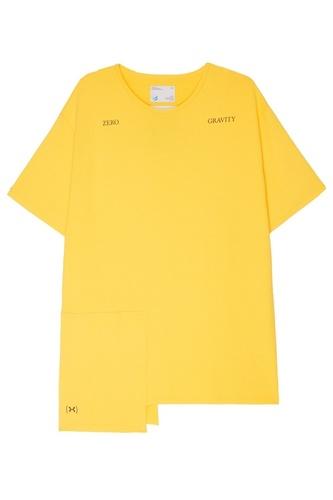 Желтая удлиненная футболка