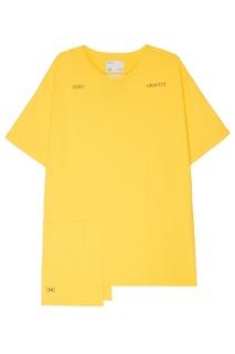 Желтая удлиненная футболка C2 H4